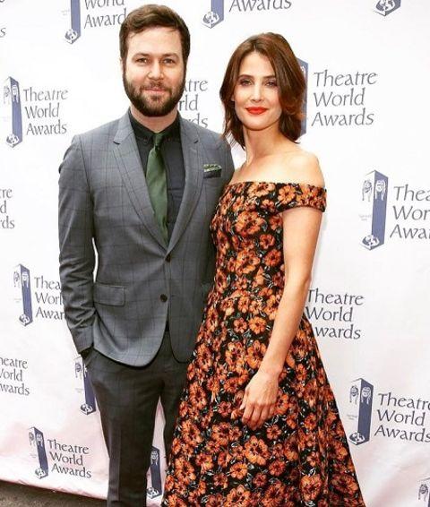 Taran Killam and Cobie Smulders at athe Theater World Awards