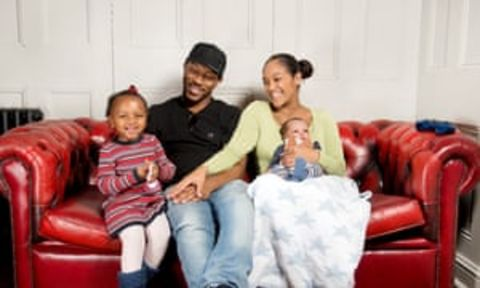 Danielle Isaie with her family