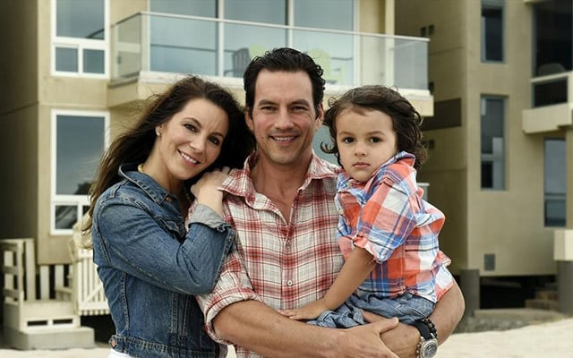 Brienne Pedigo with her husbad Tyler Christopher and kids