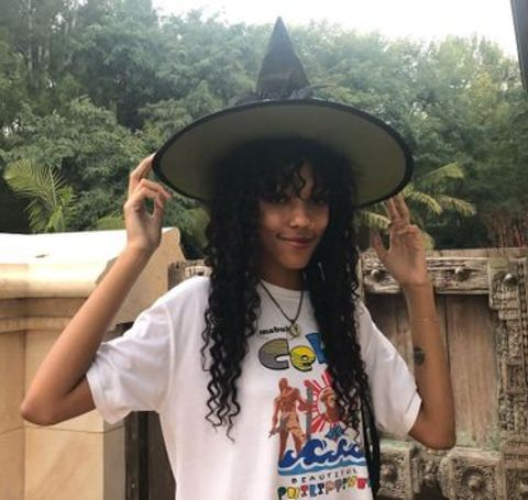 Zola Ivy Murphy Posing with a Witch hat