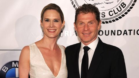 Kate Connelly with her former partner Bobby Flay