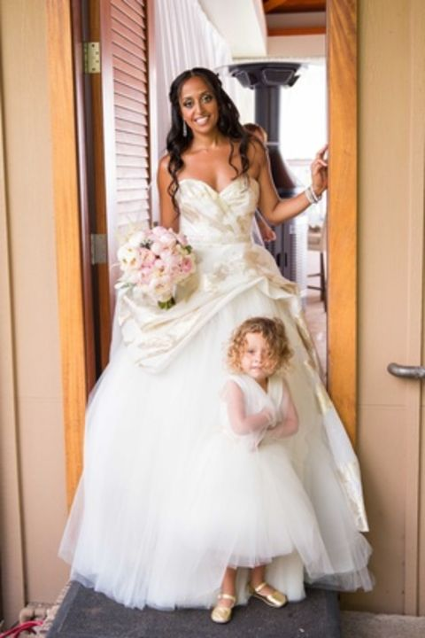 Chudney Ross and her daughter during her wedding day
