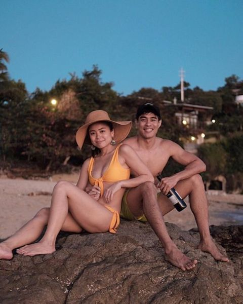 Victor Silyan and his girlfriend