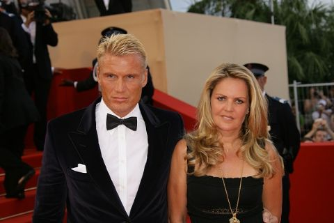 Anette Qviberg with her Ex-husbnad Dolph Lundgren