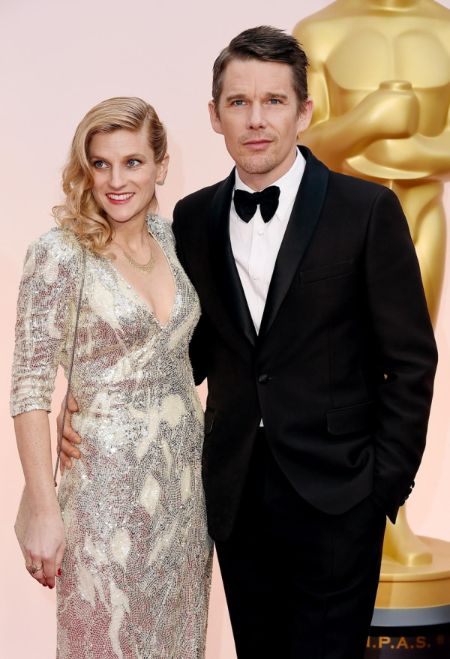 Ethan Hawke with his wife Ryan Hawke