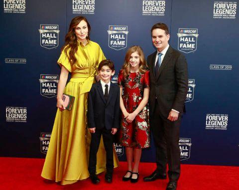 Jeff Gordon with his family