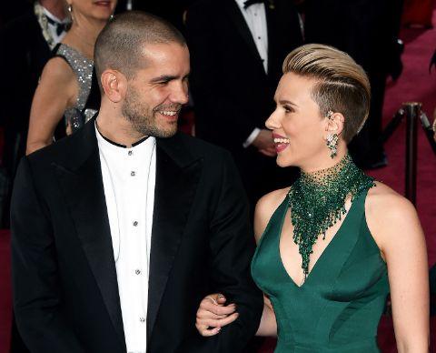 Scarlett Johansson and her ex-husbnad Romain Duriac