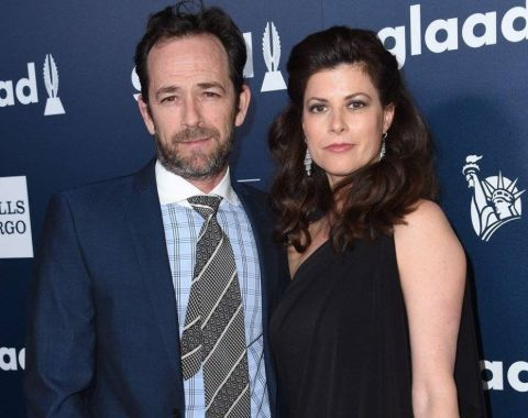 Wendy Bauer with beau Luke Perry
