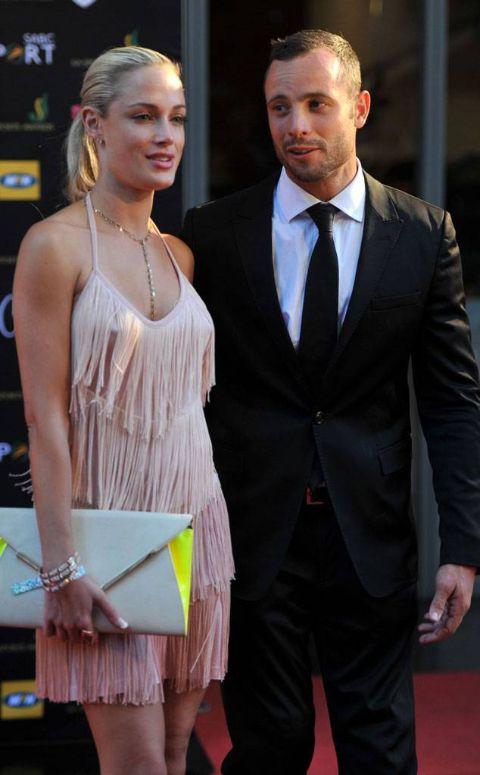 Oscar Pistorius with his late-girlfriend, Reeva Steenkamp.