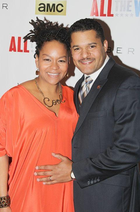 Brandon J. Dirden with his wife Crystal A. Dickinson.