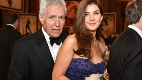 Alex Trebek and his wife.