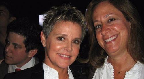 Amanda Bearse with her partner Carrie Schenken