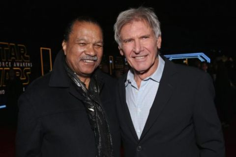 Billy Dee Williams and Harrison Ford.