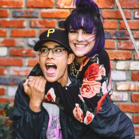 Brandon Arreaga with his elder sister.