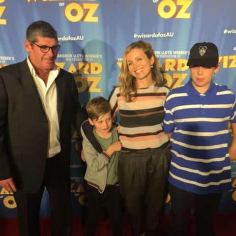 Bridie Carter with her family at the movie opening night.