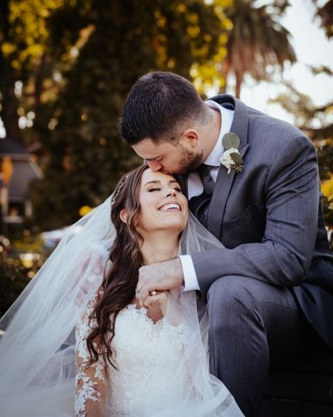 Christina Lynne Cimorelli with her husband Nick Reali.
