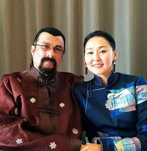 Erdenetuya Seagal and Steven Seagal