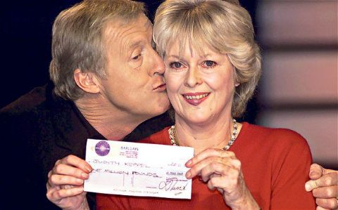 Judith Keppel after winning Who Wants To Be A Millionaire.