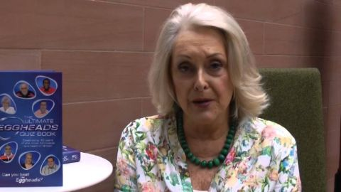 Judith Keppel at the Eggheads set