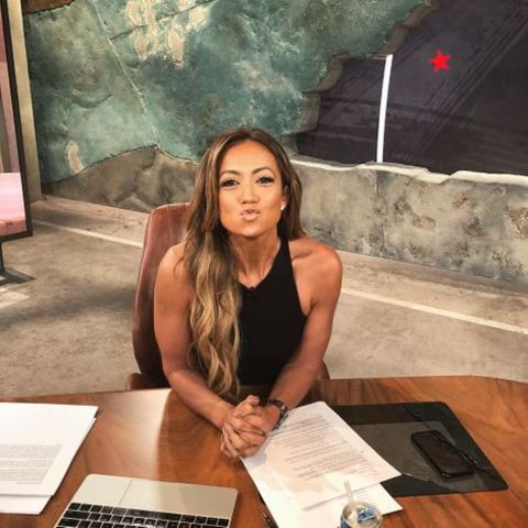 Kate Abdo at the Fox News set