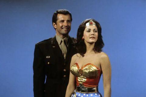 Lyle Waggoner on set of Wonder woman