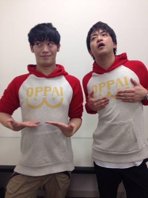 Makoto Furukawa posing with Saitama T-shirt