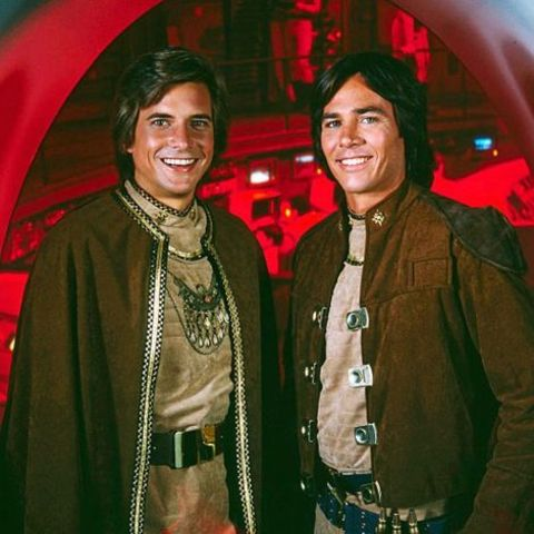 Richard Hatch with his Co-star
