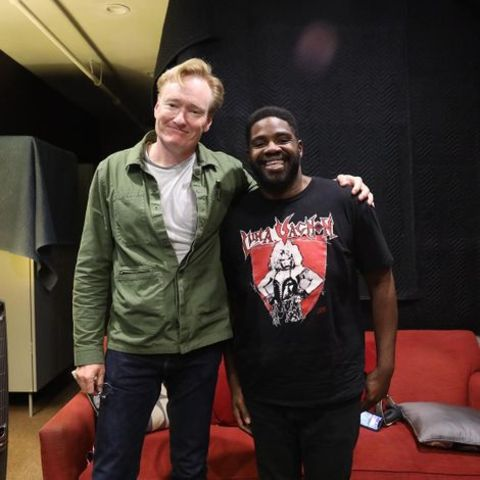 Ron Funches with Conan O'Brian