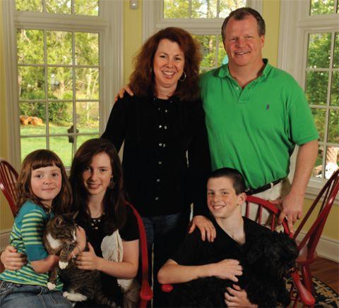 Siobhan Fallon Hogan with her family