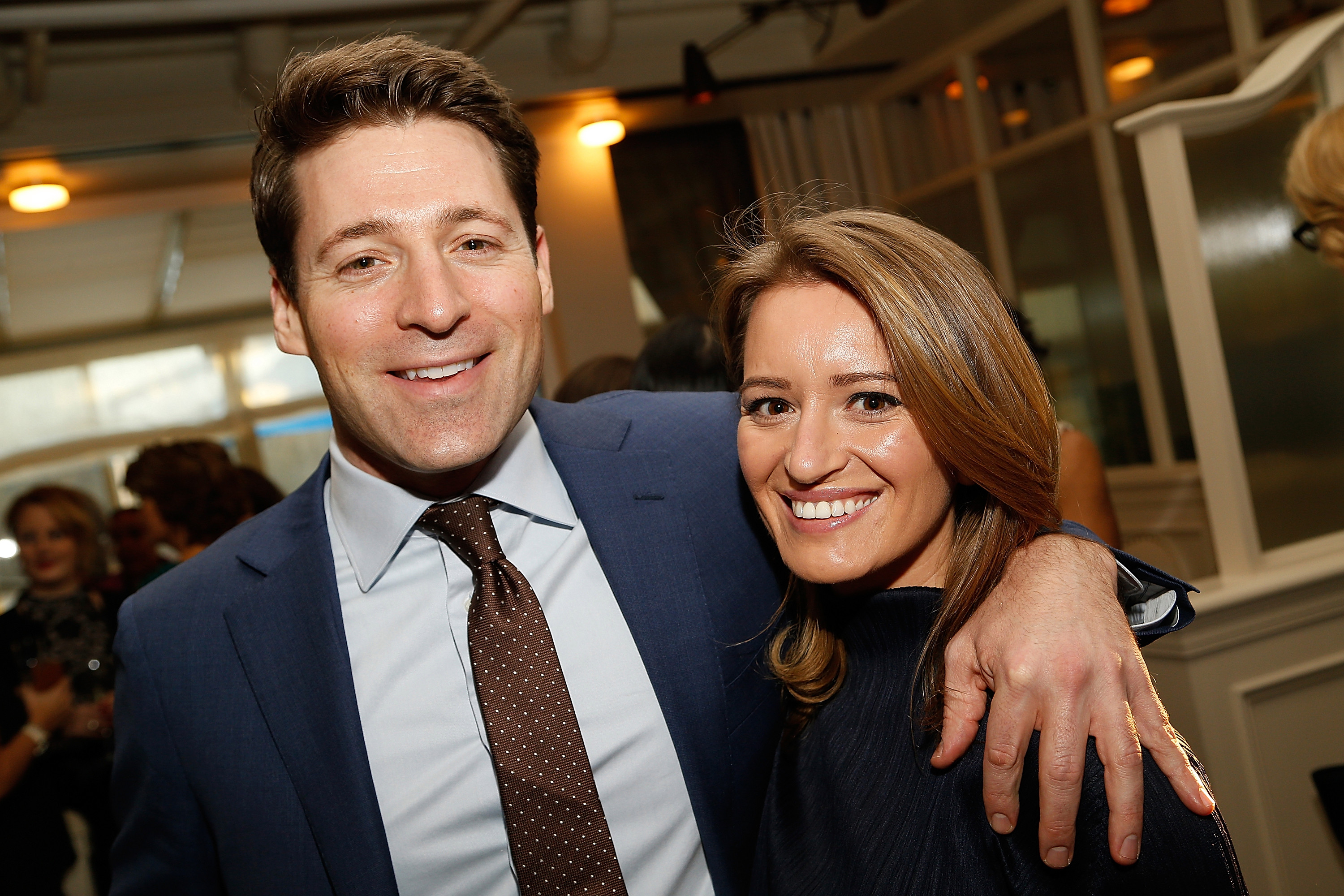 Tony Dokoupil with his partner Katy Tur