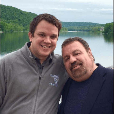 Eric Millegan with his Husband Charles Michel.