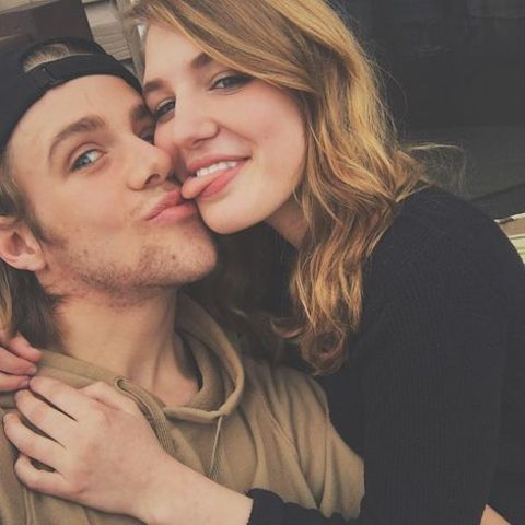 Sophie Nelisse with her boyfriend Maxime Gibeault