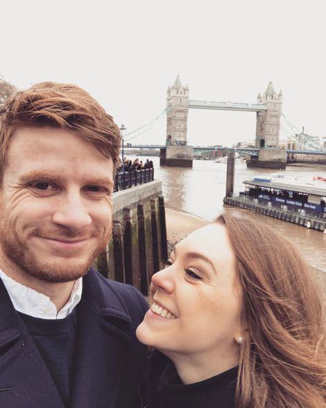 Natasha Bertrand with her lover Bryan Coxwell