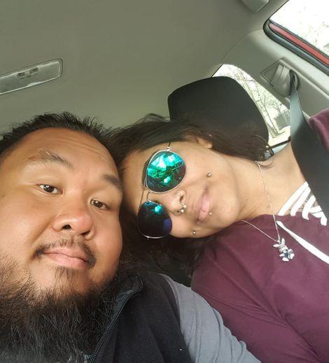 Fallah Bahh with his lover Shivanie Saith