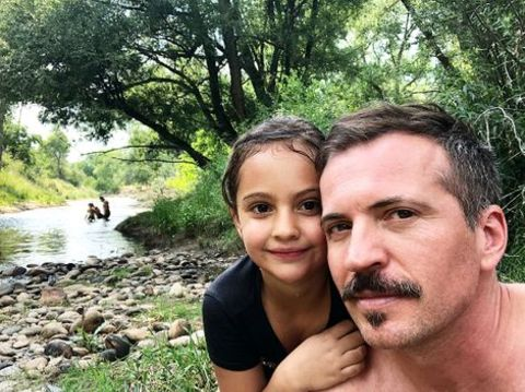 Tygh Runyan with his elder daughter