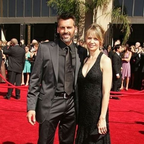 Oded Fehr with Rhonda Tollefson.