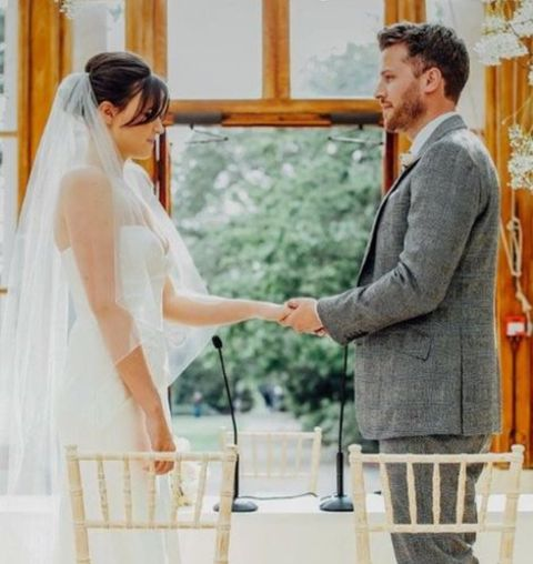 Emer Kenny with her Spouse Rick Edwards