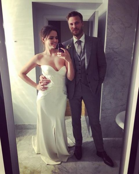 Emer Kinney and Rick Edwards on their first marriage anniversary.