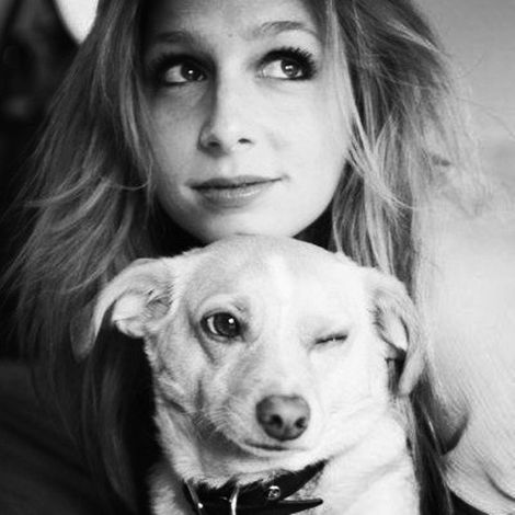 Shoshannah Stern and her dog