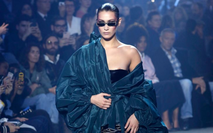 Bella Hadid's 101 Degree Fever Too Hot At Paris Fashion Week