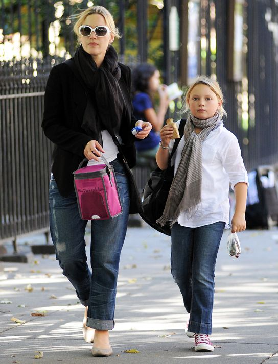 Mia Honey Threapleton with her mum Kate Winslet