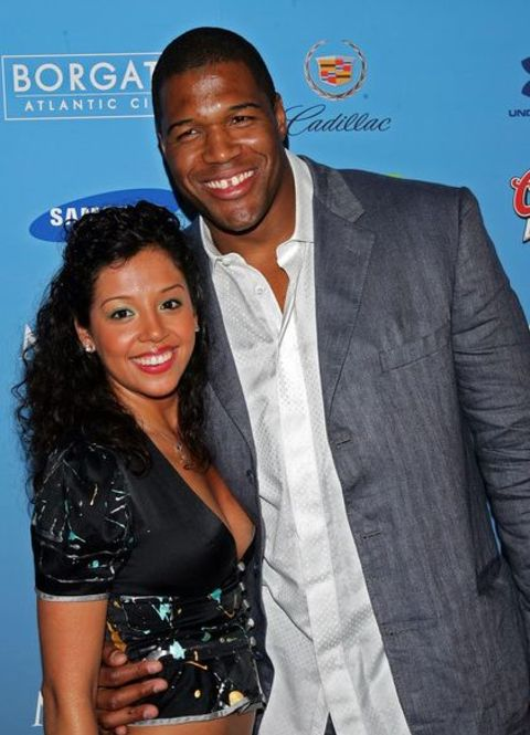 Wanda Hutchins' with her ex-husband Michael Strahan.