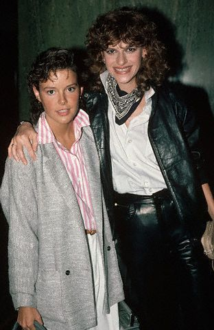 Amanda Bearse with her former partner Sandra Bernhard posing for a picture