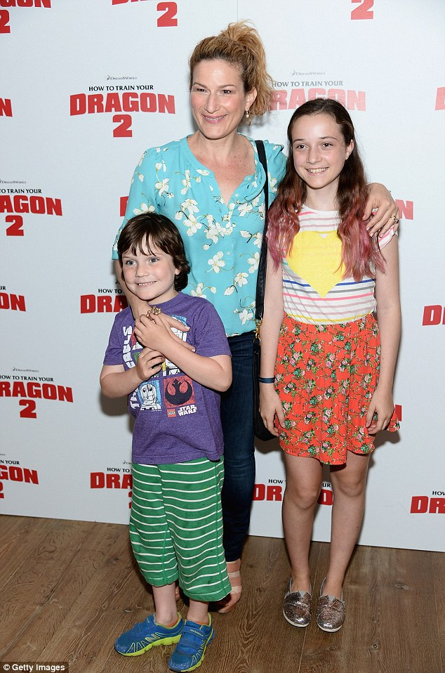 Ana Gasteyer with her children Frances Mary McKittrick and Ulysses McKittrick