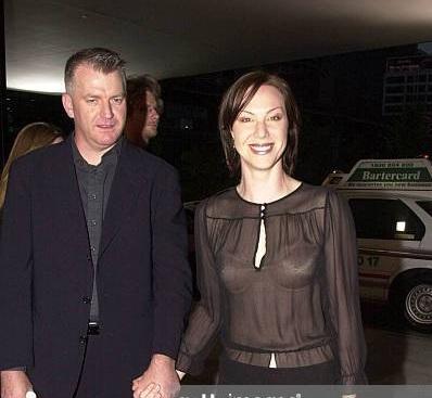 Belinda McClory with her spouse Jon Hewitt