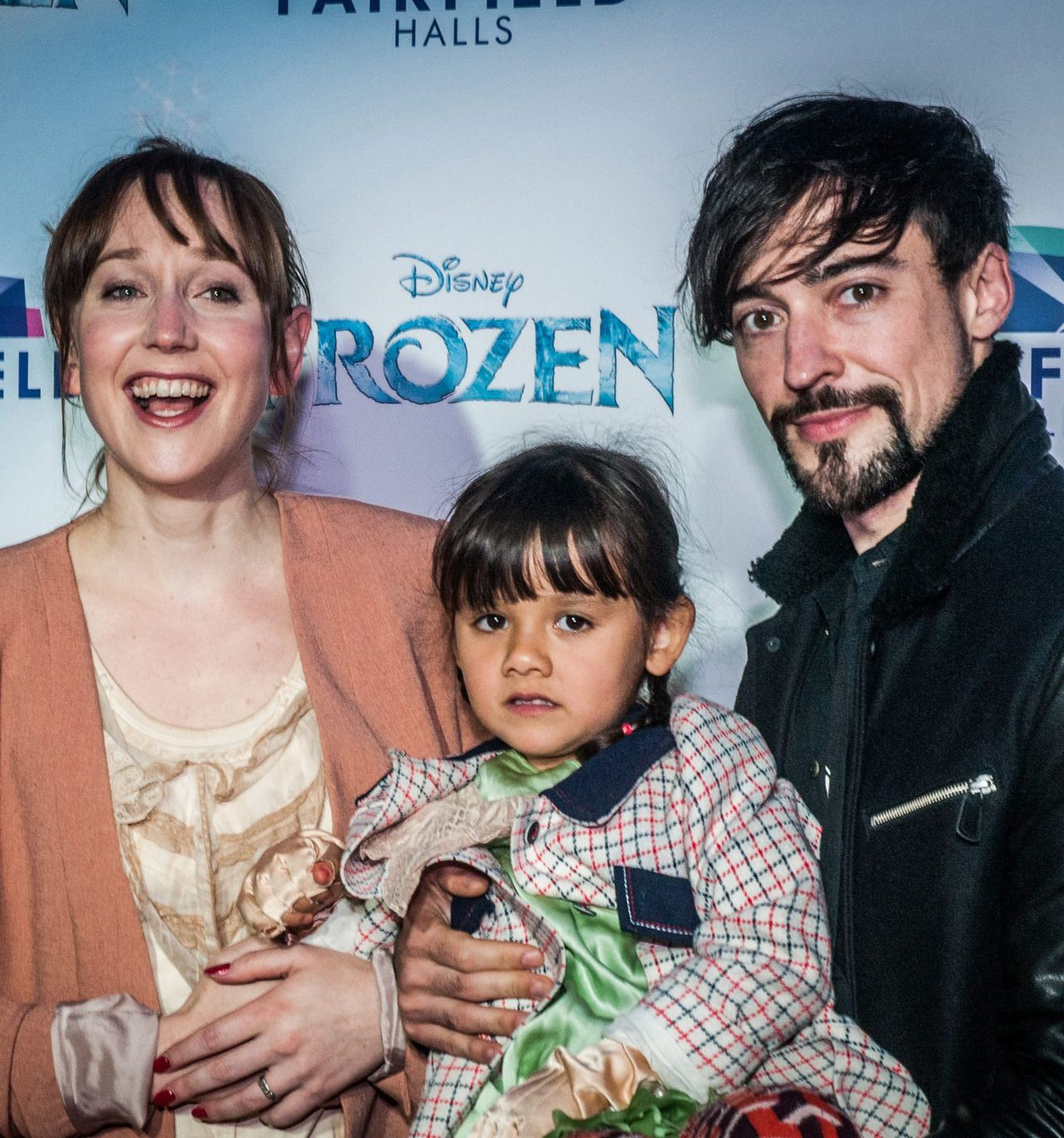Blake Ritson with future wife Hattie Morahan and kid.