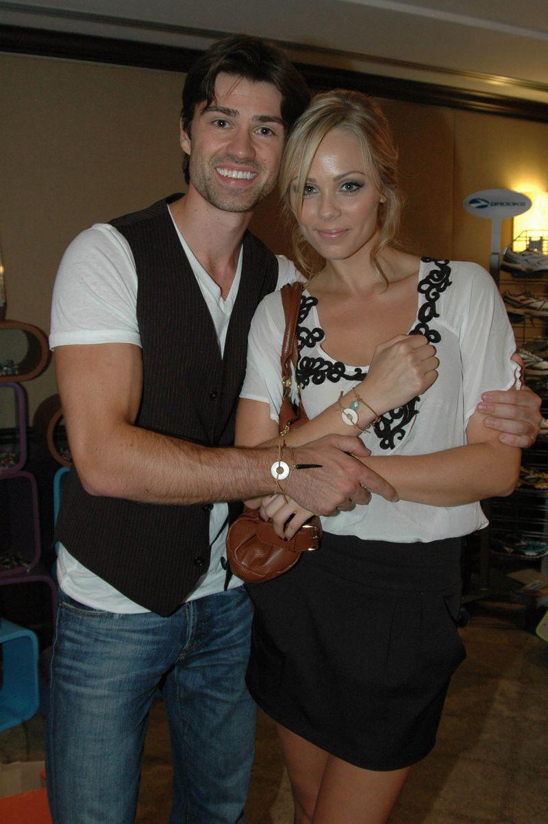 Corey Sevier with his former parnter Laura Vandervoort