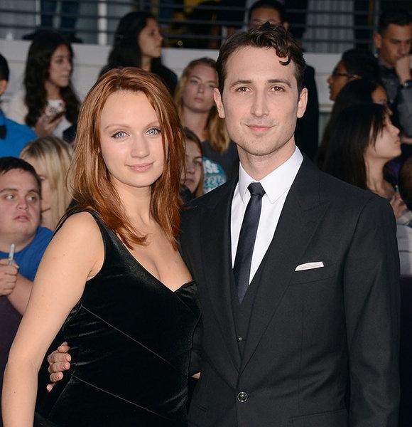 Emily Berrington with her partner Ben Lloyd-Hughes