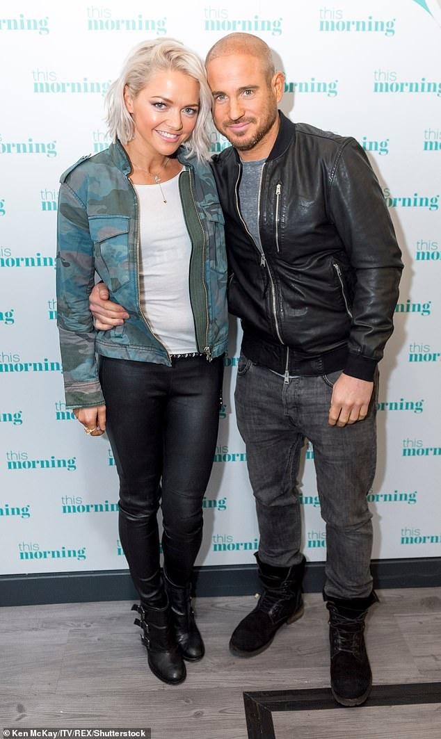 Hannah Spearritt with her boyfriend Adam Thomas