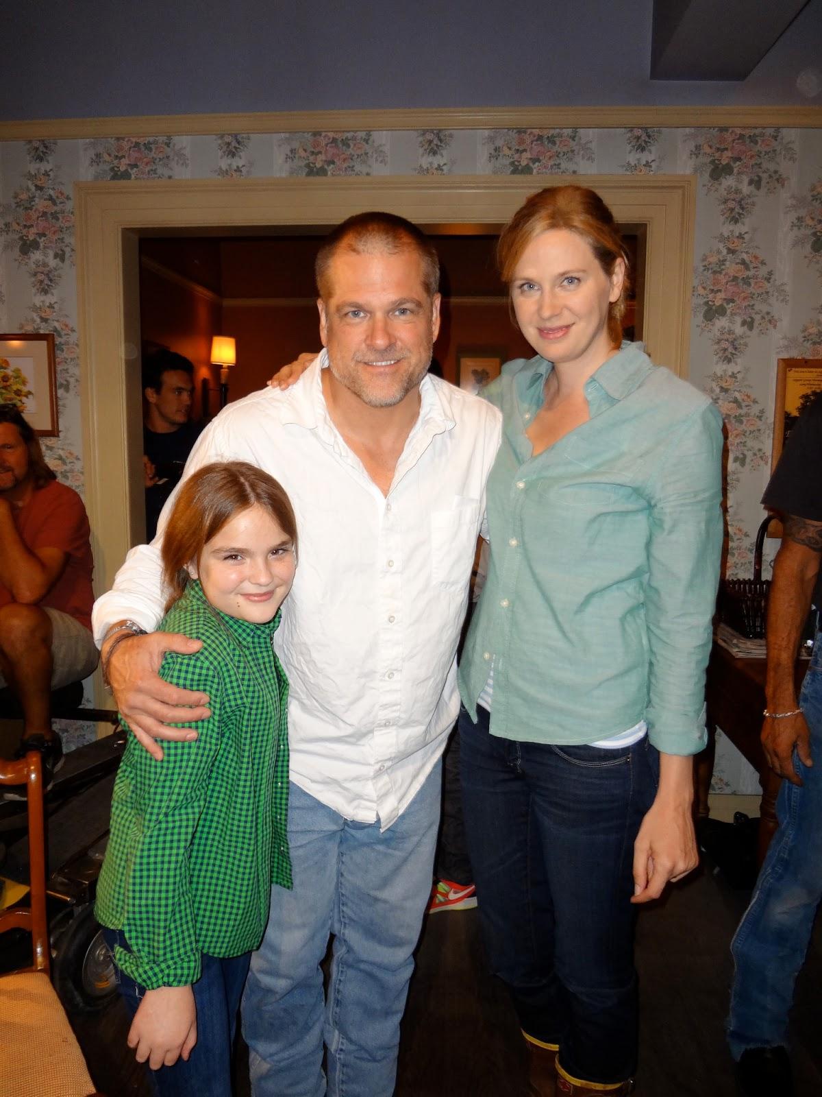 John Terlesky with his spouse Jayne Brook and child Alexandra Terlesky